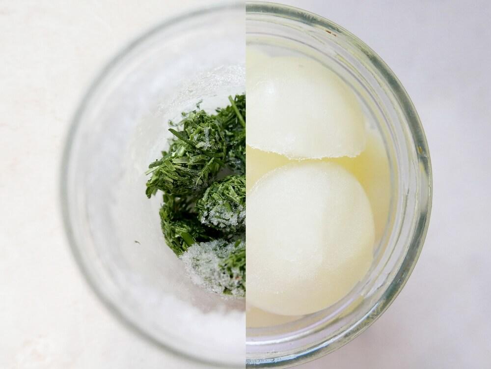 Hagyma és citrom a fagyasztóban