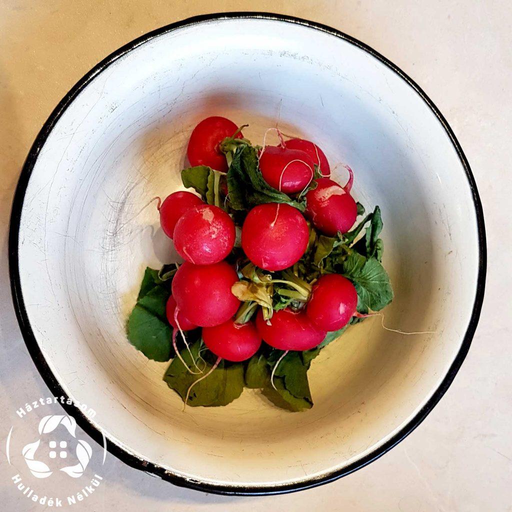 zöldség tárolás, retek frissen tartása