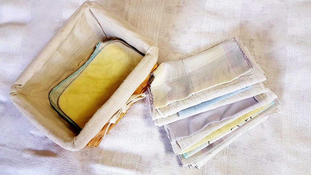 textil zsebkendő tárolása
