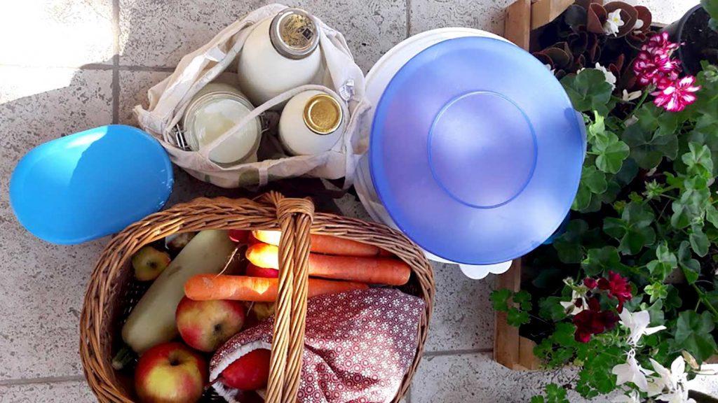 hulladékmentes konyha - bevásárlás műanyagmentesen, textil zsatyor.