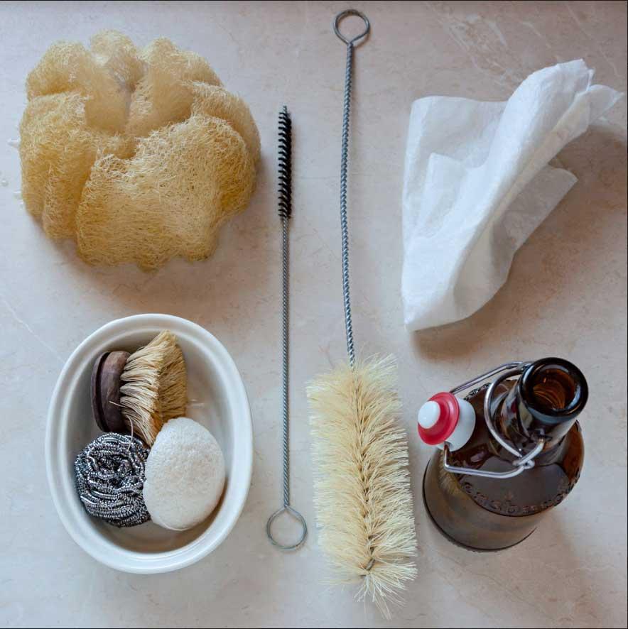 luffa szivacs és egyéb konyhai zero waste eszközök